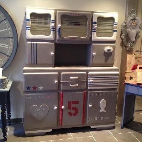 Sinbad le buffet mado revisit relook meubles et rangements par l atelier d ema projets - Relooking vieux meubles ...