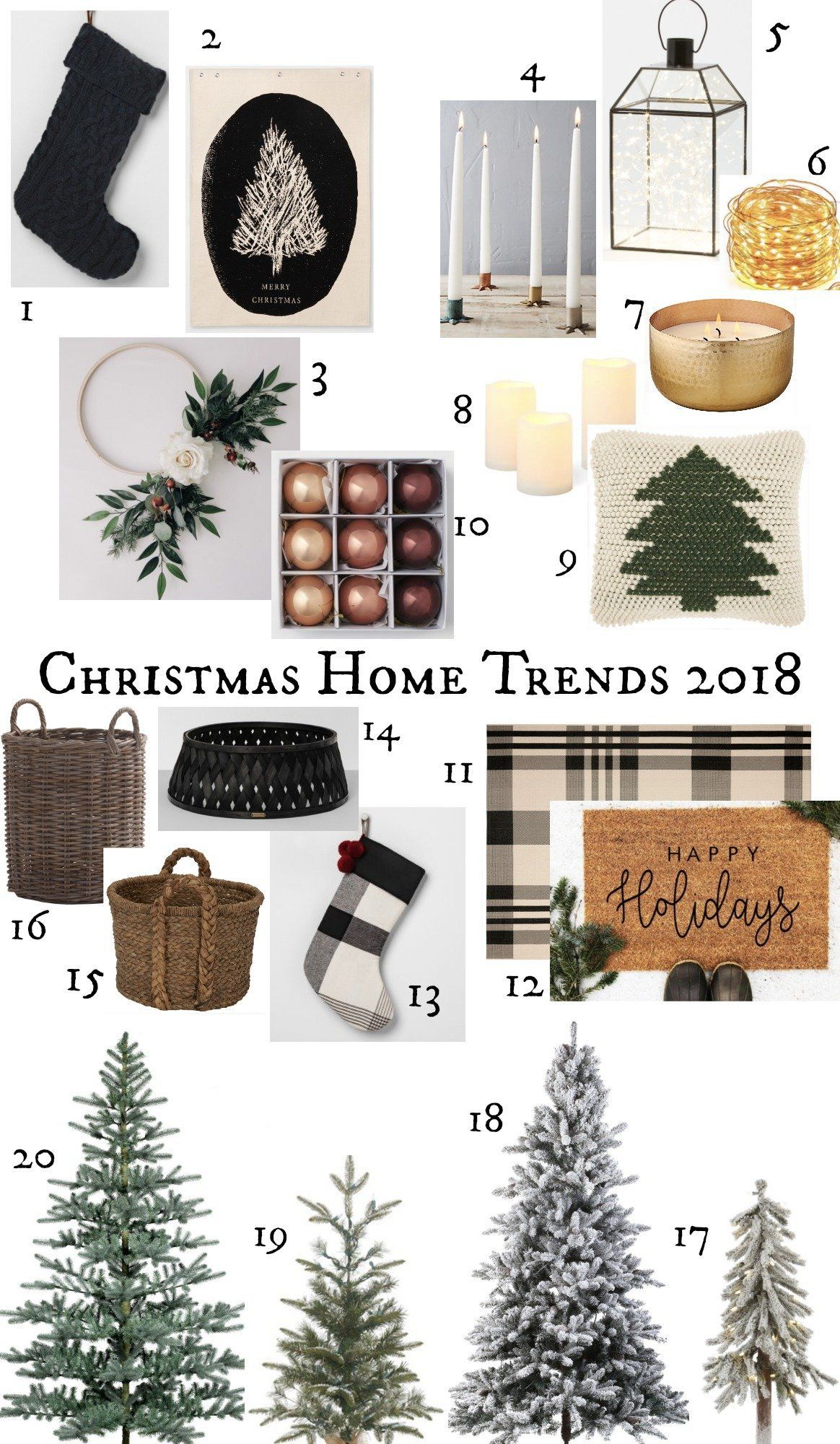 TOP Home Decor Christmas Trends 2018 - Nesting With Grace