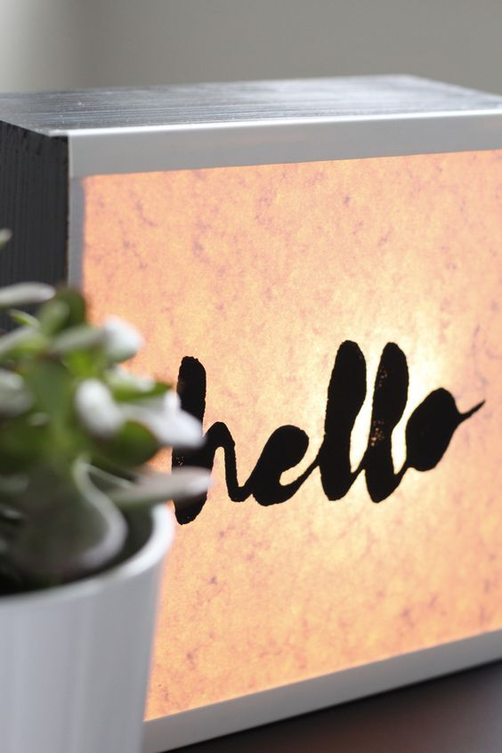 lampe message lumineux diy
