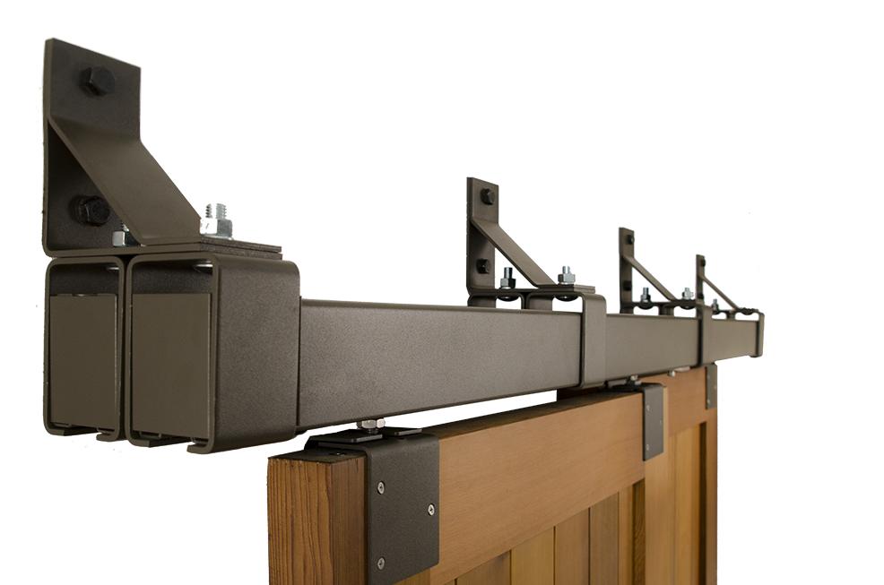 Box Rail Bypass Barn Door Hardware Kit Heavy Duty Interior Exterior 600 Lb Sliding Door Hardware Bypass Barn Door Hardware Bypass Barn Door