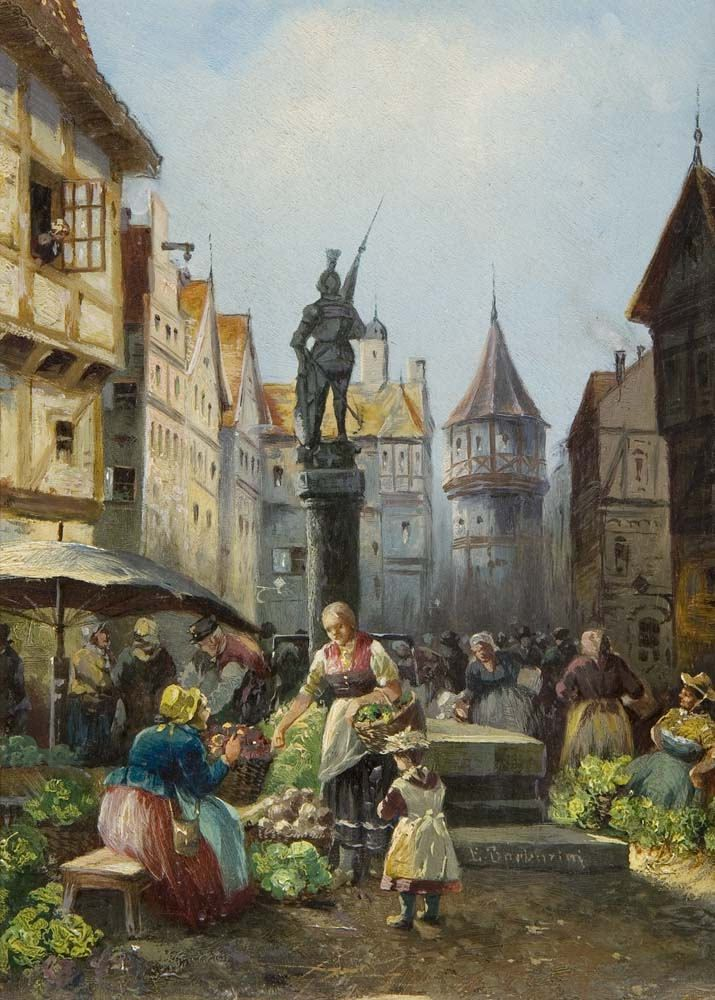 https://flic.kr/p/P43RcL | Emil Barbarini - Vegetable Market in the Old Town