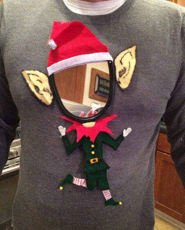Last minute ugly Christmas sweater creation for the office party