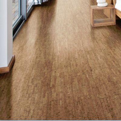 """Wicanders Corkcomfort 5-1/2"""" Engineered Cork Hardwood Flooring in Traces Spice"""