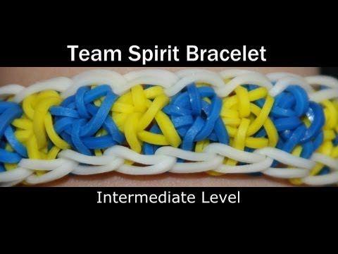 ▶ Rainbow Loom® Team Spirit Bracelet - YouTube