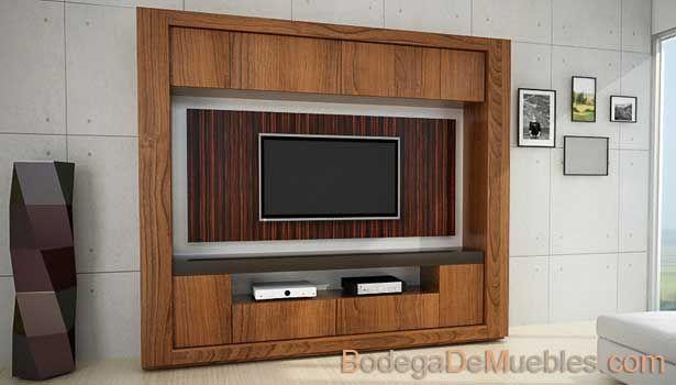 Modulo para tv con chapado de ébano.