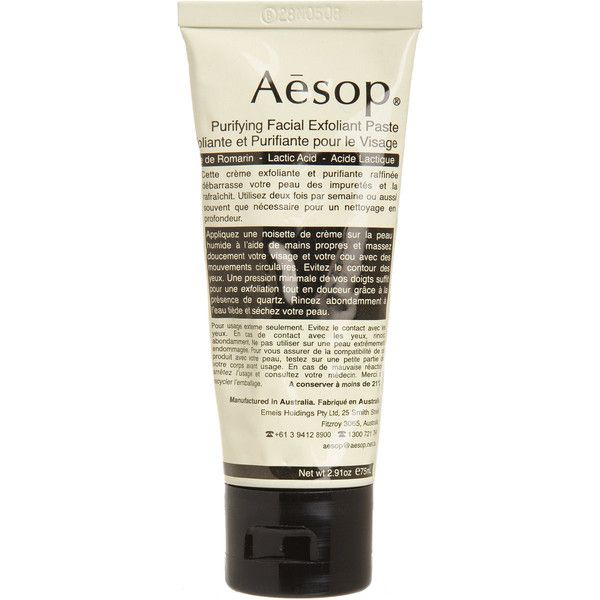 Aesop Purifying Facial Exfoliant Paste (£39) ❤ liked on Polyvore featuring beauty products, skincare, face care, face cleansers, fillers, beauty, cosmetics, makeup, colorless and aesop