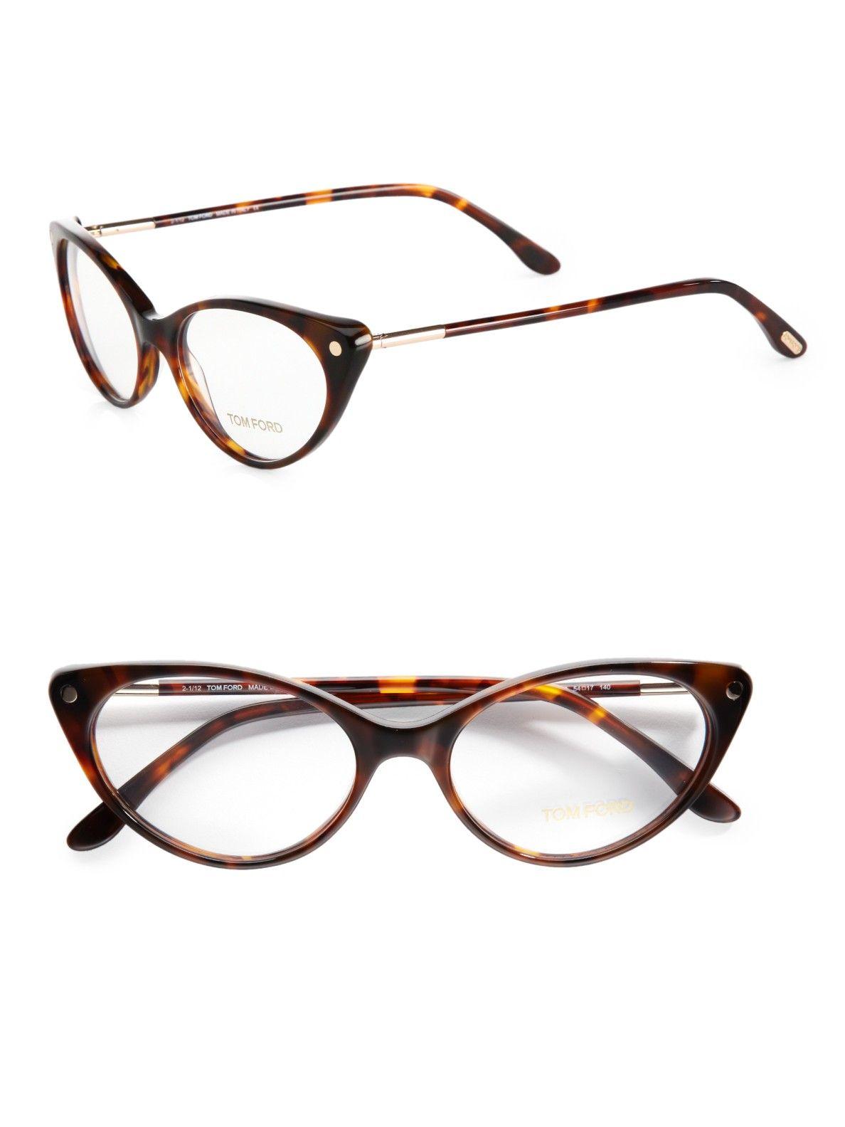 700c93e72aa Tom Ford Modern Cats-Eye Plastic Eyeglasses in Brown (havana)