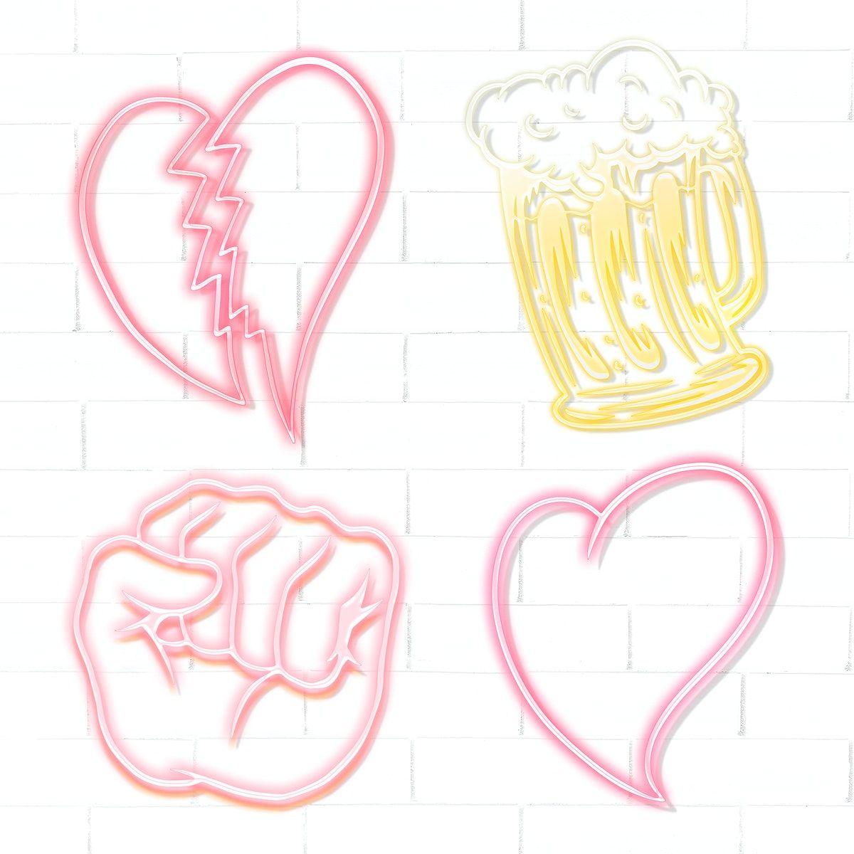 Download premium illustration of Cute broken heart sticker