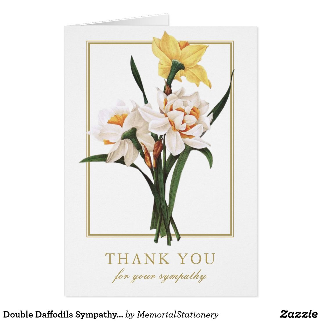 Double daffodils sympathy funeral thank you cards funeral double daffodils sympathy funeral thank you cards izmirmasajfo