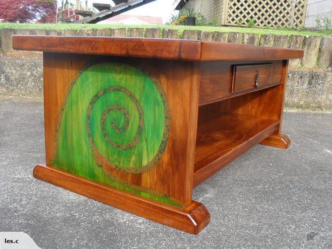 Coffee Table with inlaid Koru | Trade Me | Coffee table ...