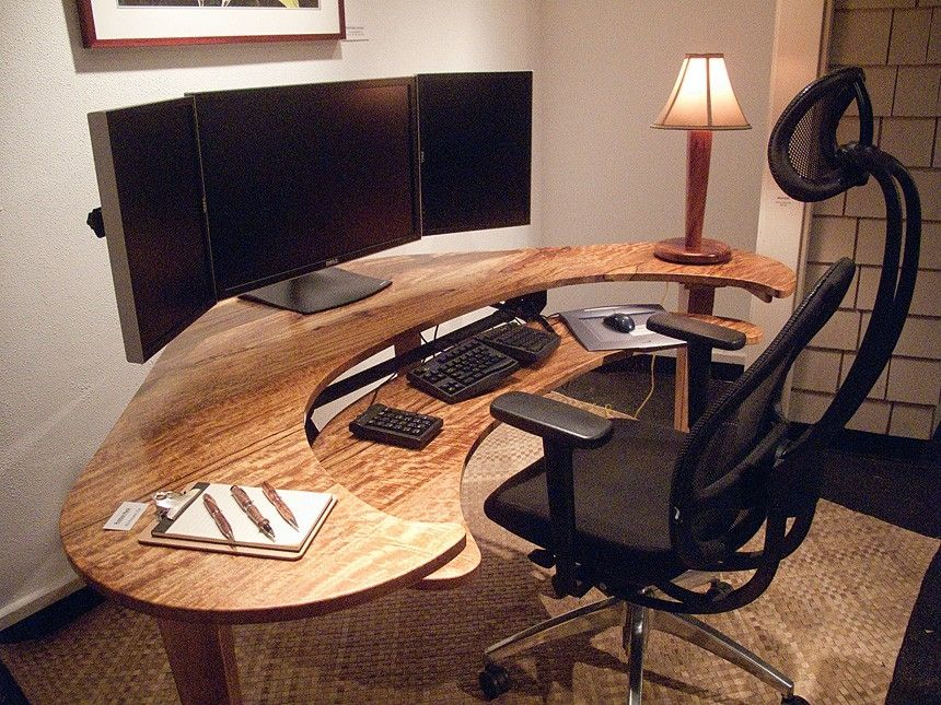 i want this but in white! custom computer desk | tech. | pinterest