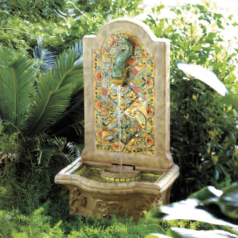 9 Front Garden Ideas Anybody Can Try: Tuscan Fountain