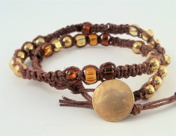 Wrap hemp bracelet