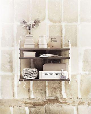 String Pocket Regal / Holz - L 60 x H 50 cm - String Furniture
