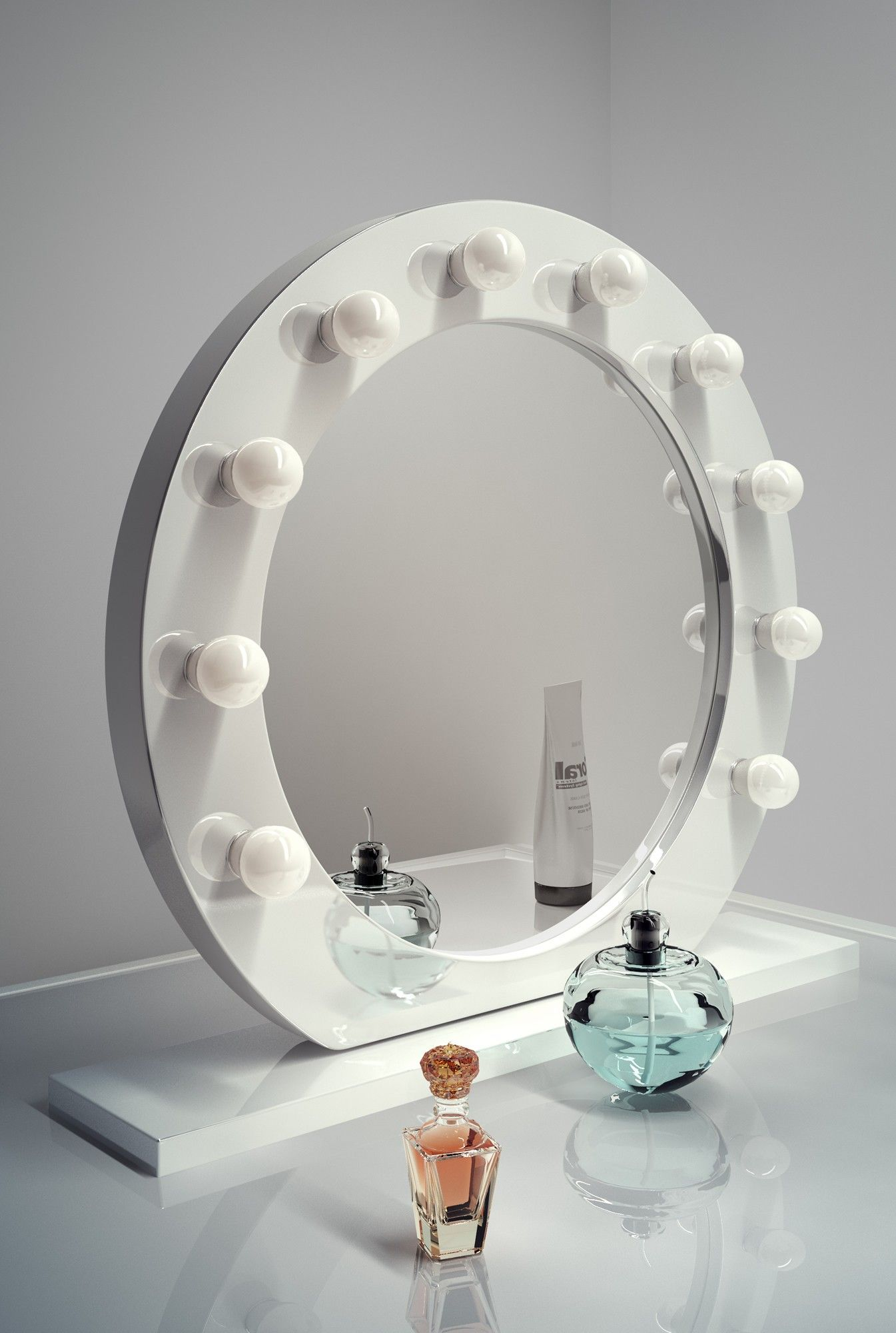 Round Vanity Mirror Hollywood mirror with lights