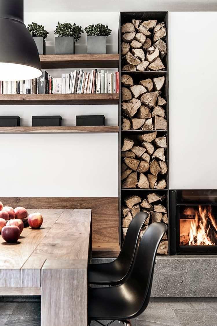 rangement bois de chauffage int rieur plus de 40 id es de. Black Bedroom Furniture Sets. Home Design Ideas