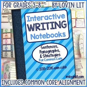 This Interactive Writing Notebook is a companion to my TpT Best Sellers for Reading Literature and Reading Informational Text. Get the *original* Interactive Writing Notebook - Over 25,000 copies sold!