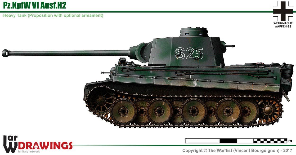 Pz Kpfw Vi Ausf H2  Avec Images