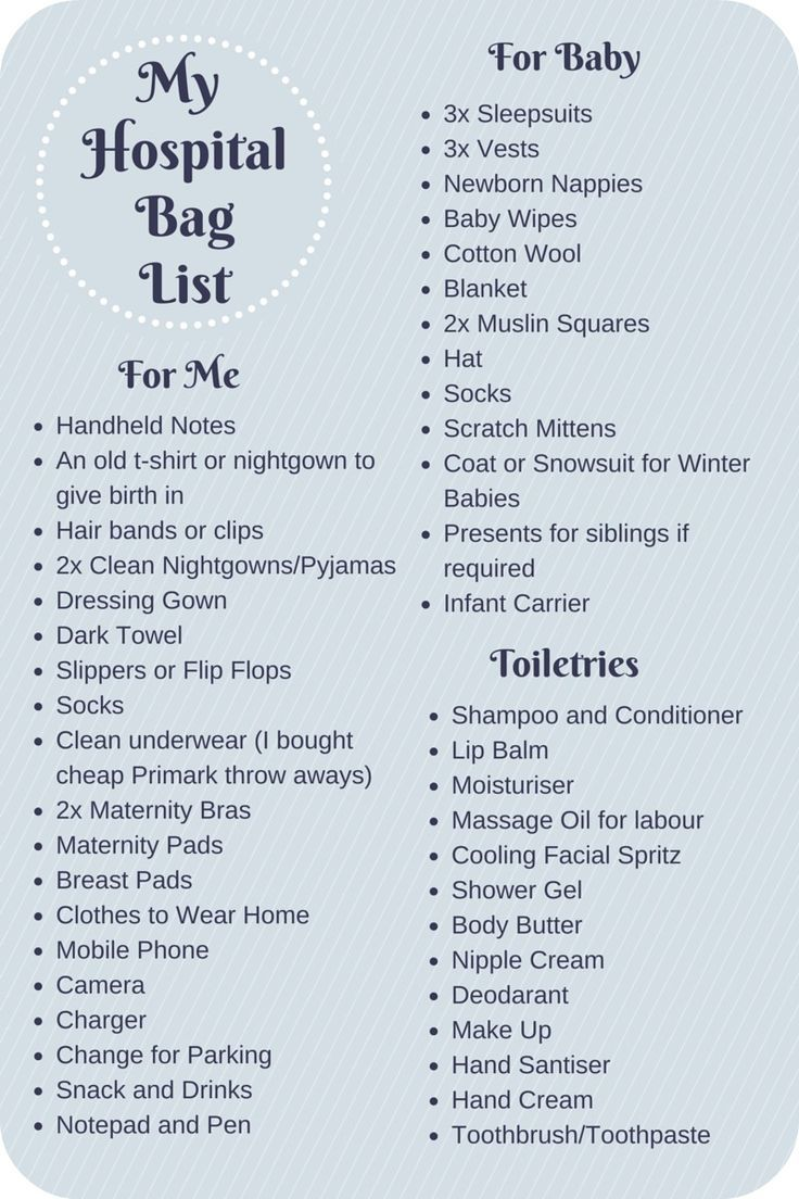 What To Pack In Your Hospital Bag Checklist Uk For