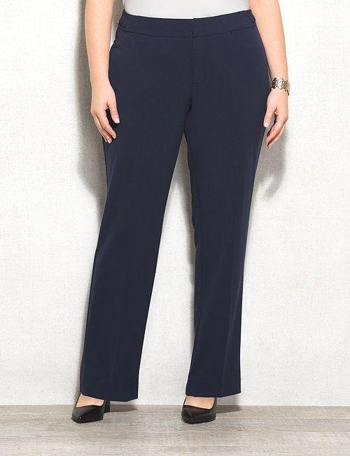 e8a2fce8f85 roz ALI Plus Size Signature Fit Straight Pants