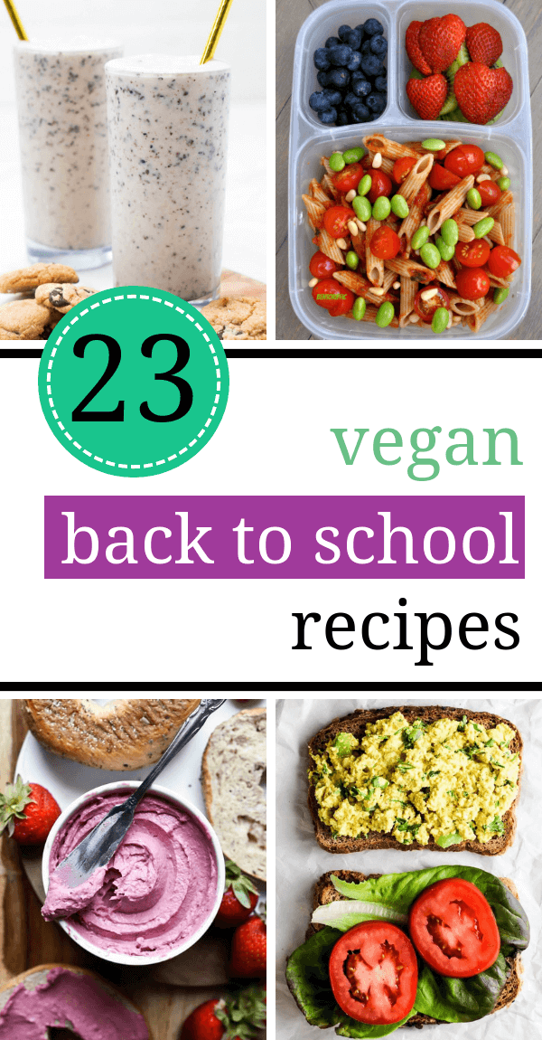 23 Healthy Vegan Back to School Recipes Your Kids Will Love Vegan back to school recipes for kids. Get inspired with these healthy and easy breakfast, lunch, and snack ideas to make your child on busy school days. | The Green Loot