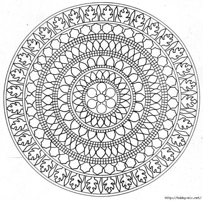 Mandala 42 (700x694, 441Kb) | Абстрактные раскраски ...