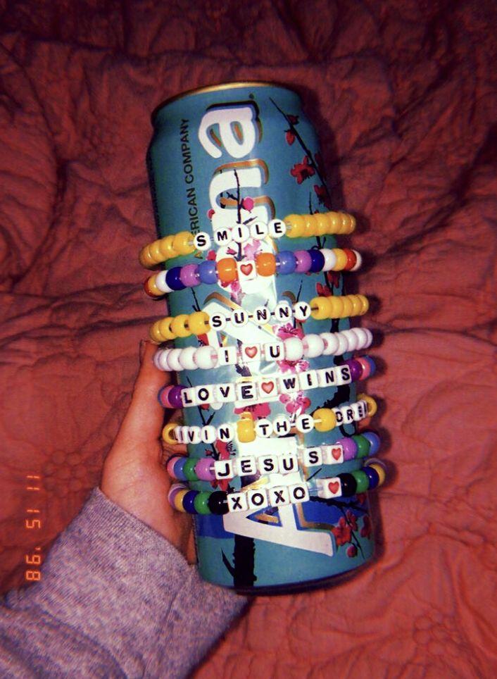 #artsy #aesthetic   Pony bead bracelets, Beaded bracelets ...