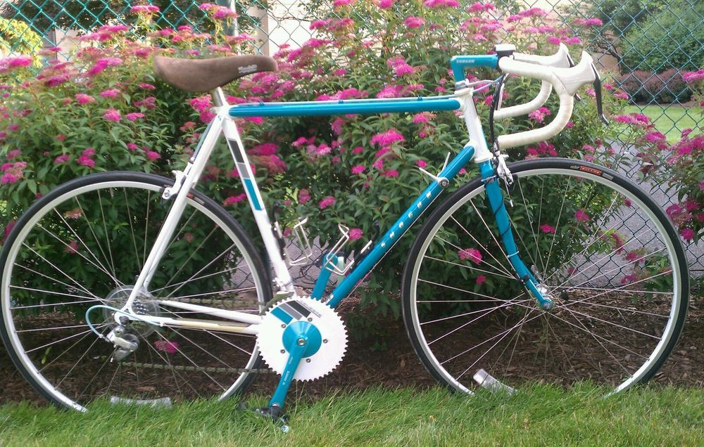 55cm 1987 SHOGUN CELESTE SHIMANO SANTE SUGINO CHCD CRANKSET FIT 75  >4 ORIG MILE #SHOGUN This was the bike I had for racing.  I loved it :)