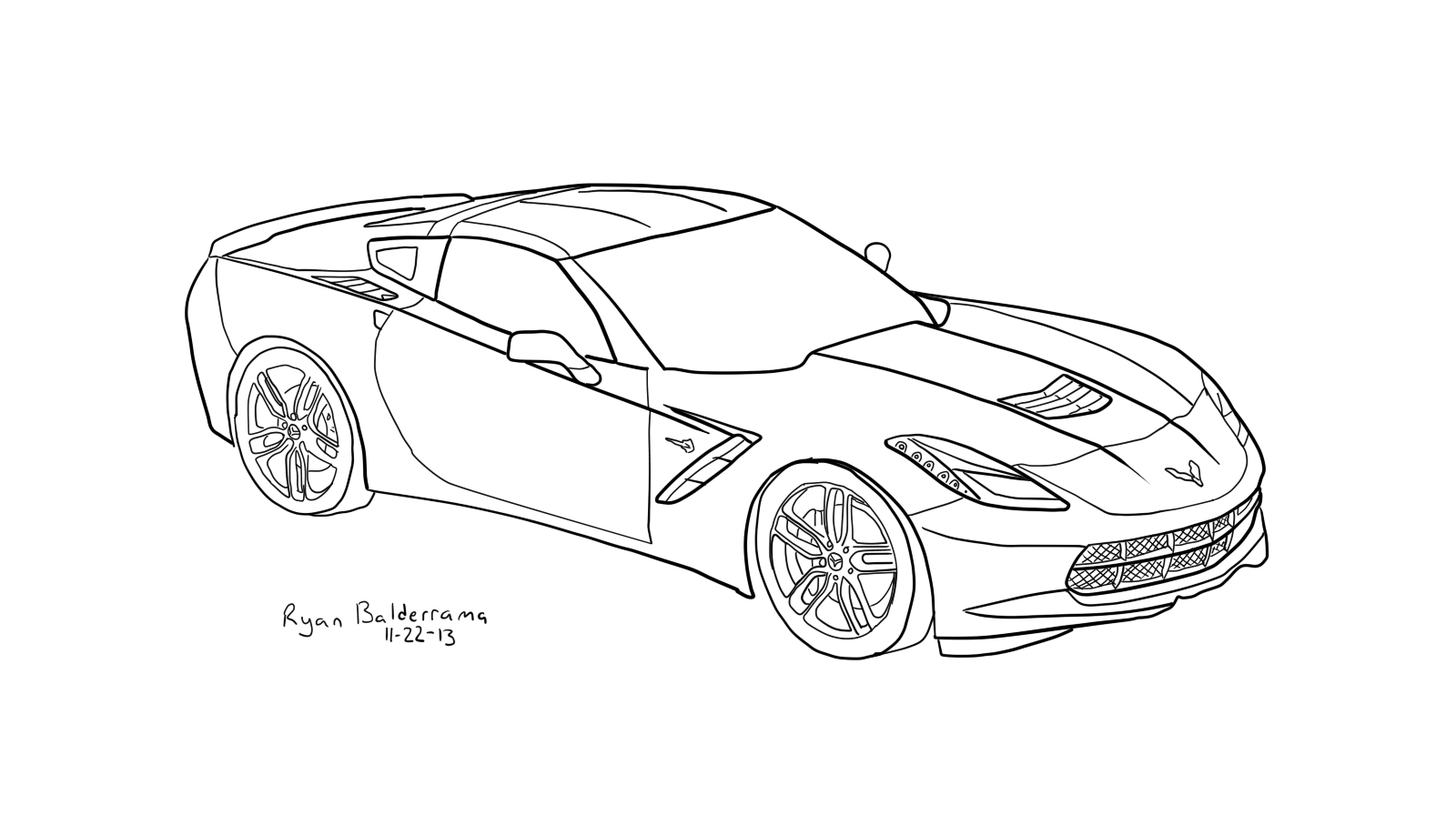 corvette outline - Google Search | Coloring Pages/Embroidery ideas ...