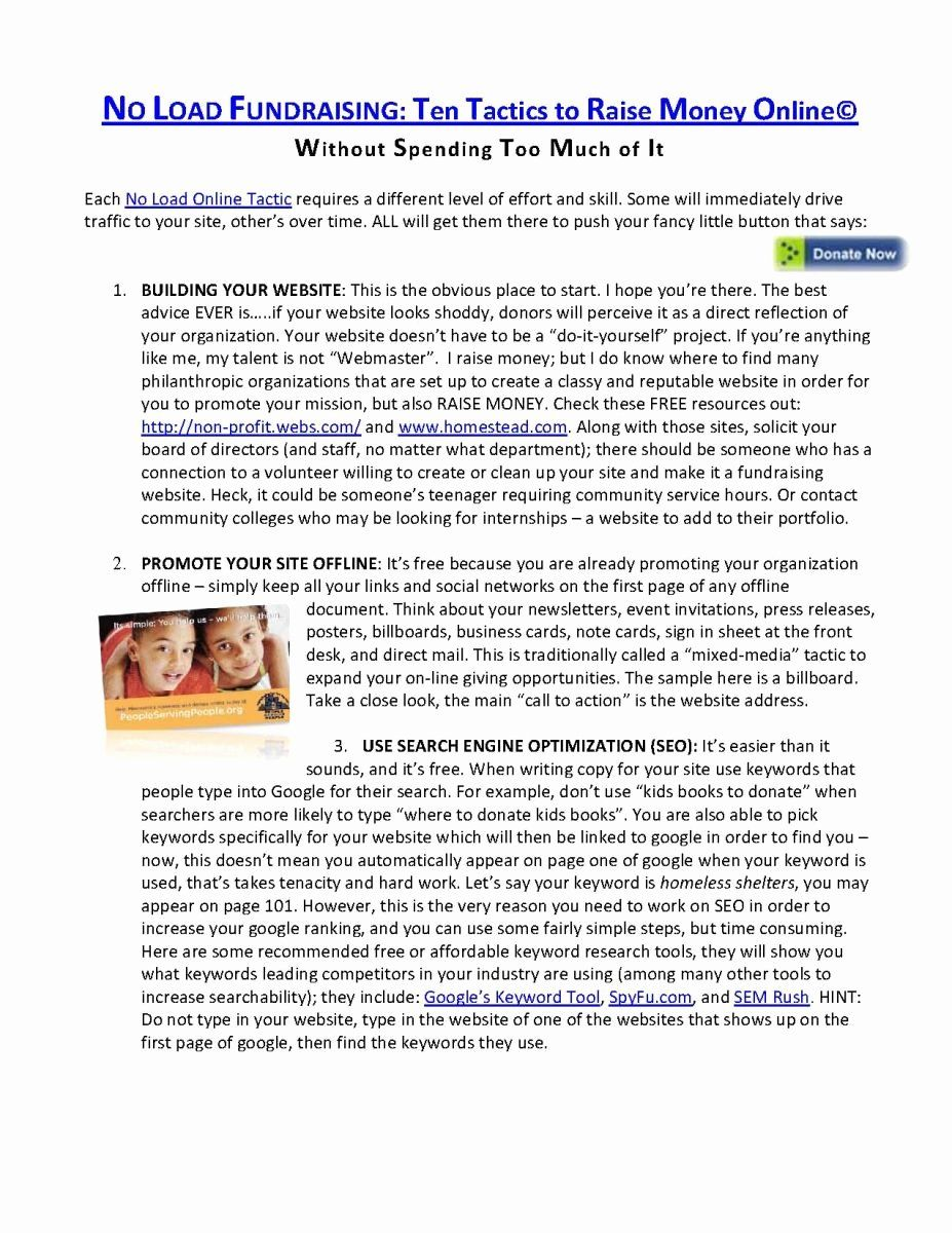Fundraising Campaign Plan Template Awesome 9 Best Of Capital Campaign Proposal Template How To Raise Money Campaign Planning Fundraising Campaign