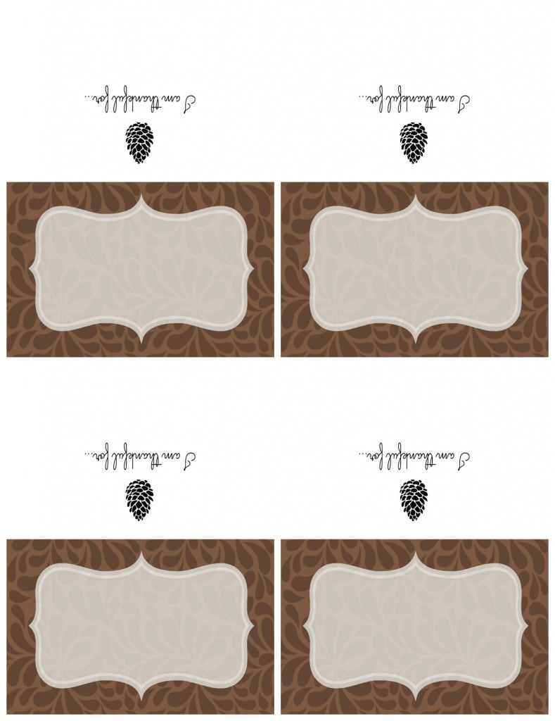 Free Printable Thanksgiving Place Card Print Out On 8 1 2