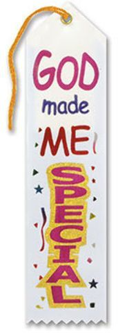 god made me special ribbon Case of 6