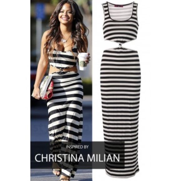 a9ca027e0f Christina Milian Inspired Maxi Dress Missi London Celebrity Inspired Dress  Missi London Dresses Maxi Online Clothes