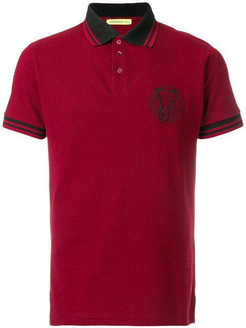 Versace Jeans Camisa polo com logo bordado  daac7e73ed3