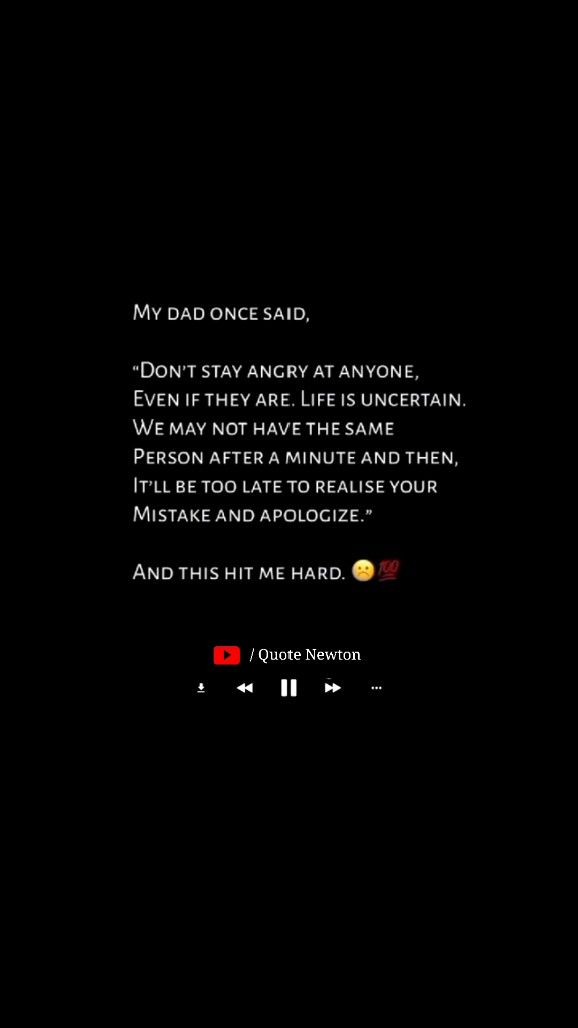 Don't stay angry at anyone even if