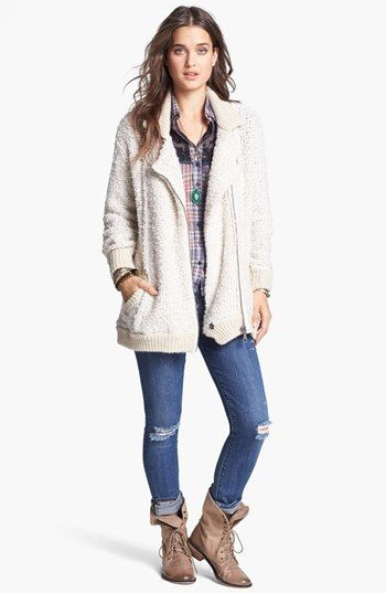 Free People 'Cuddle Up' Textured Jacket available at #Nordstrom