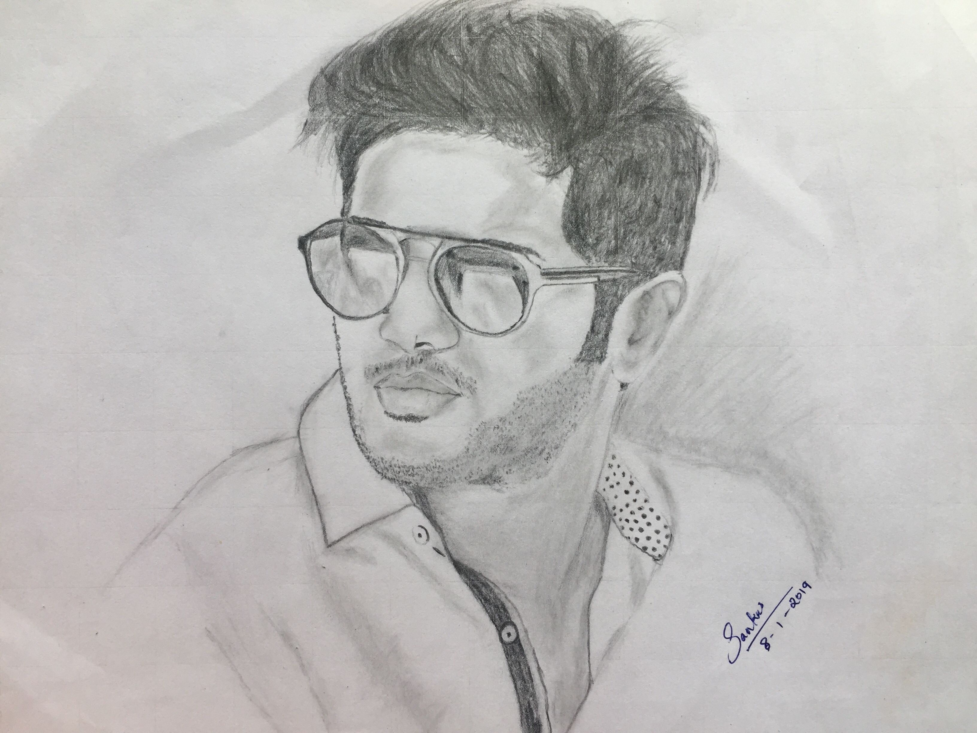 Dulquer salman pencil drawing art attack in 2019 pencil drawings