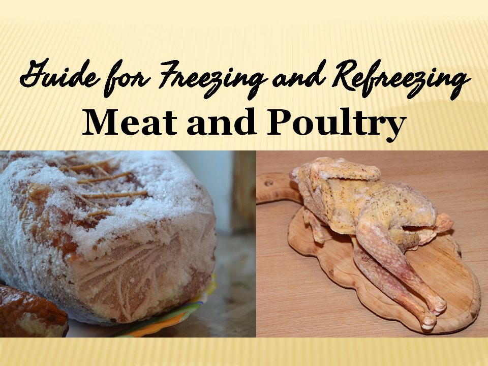 Guide for Freezing and Refreezing Meat and Poultry Meat