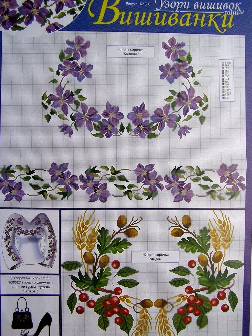 Cross stitch pattern flower borders ukrainian vyshyvanka