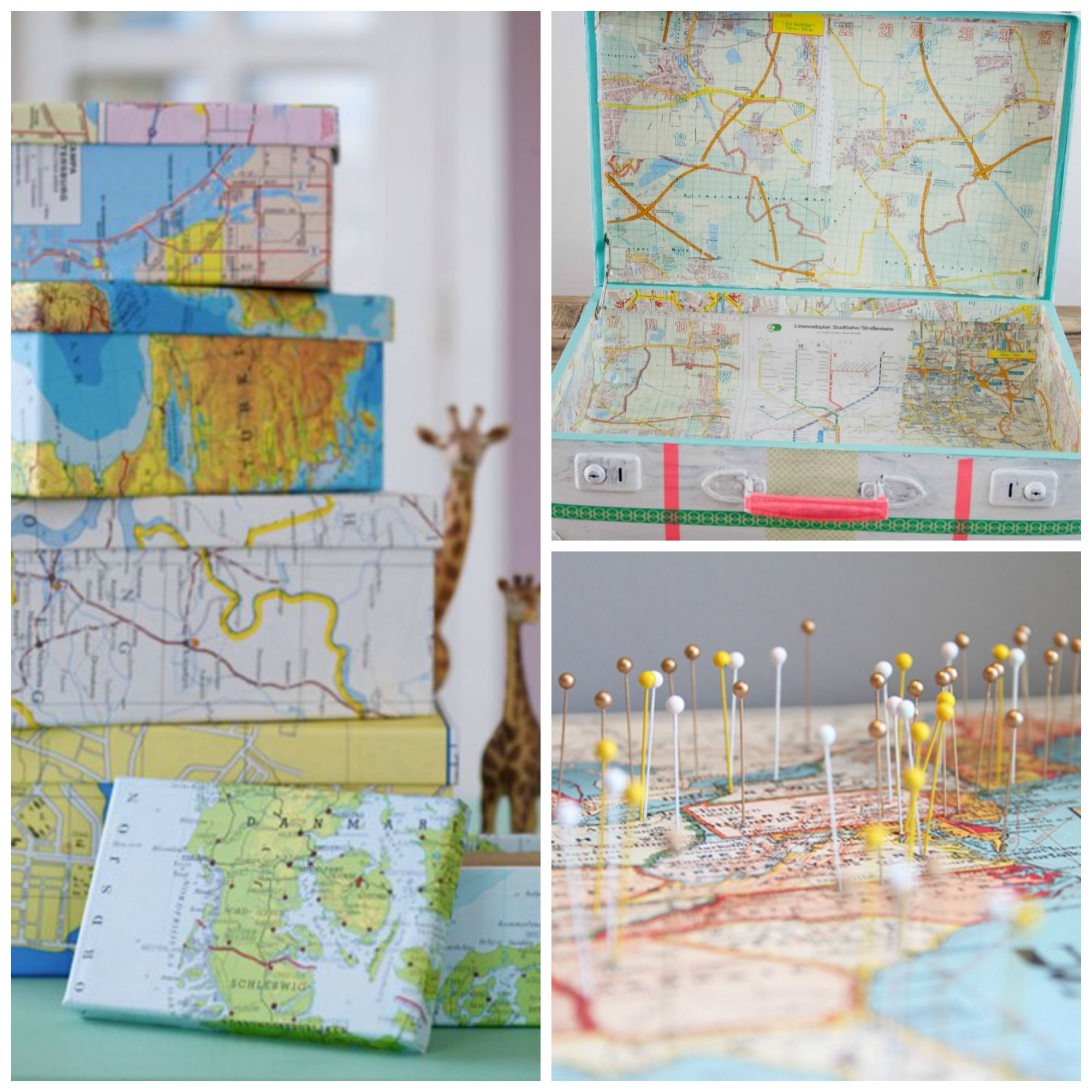 Superb 10 Brilliant Ways To Decorate With Maps, Everything From Suitcases To  Frames. Cool IdeasPaper ... Ideas