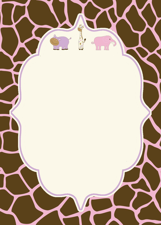 Blank Baby Shower Invitation   Baby shower   Pinterest