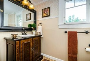 Powder Room with Flat panel cabinets, Pier 1 Preserved Boxwood Topiary Tall, Moen Ashville Towel Ring, interior wallpaper