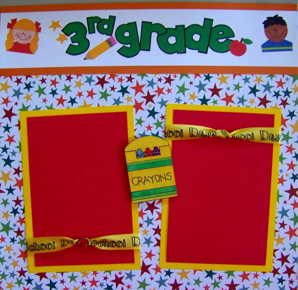 Scrapbook ideas school - Premade Scrapbook Pages School