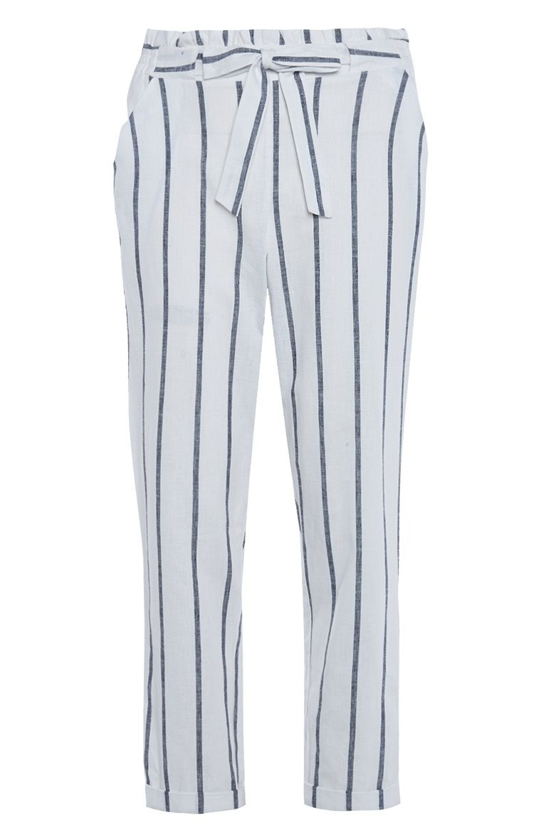 cf86820483d506 Primark - White Stripe Peg Trousers | Business Casual | Peg trousers ...