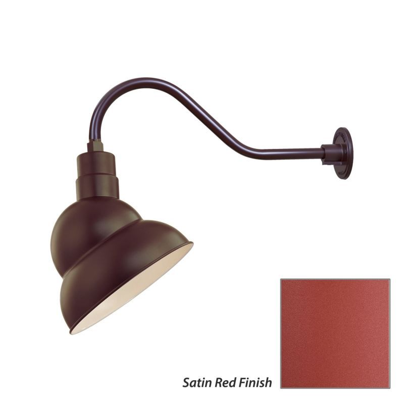 """Millennium Lighting RES12-RGN22 R Series 1 Light Outdoor Wall Sconce with 12"""" Wi"""