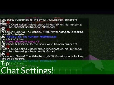 Tip Minecraft Chat Settings Httpdancedancenowcomminecraft - Minecraft offline namen andern
