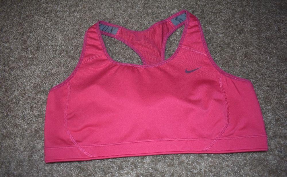 Nike Sports Bra Womens High Support Dri Fit Pink 419413