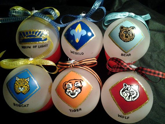 Cub scout handpainted personalized ornaments 2013 by for Cub scout ornament craft