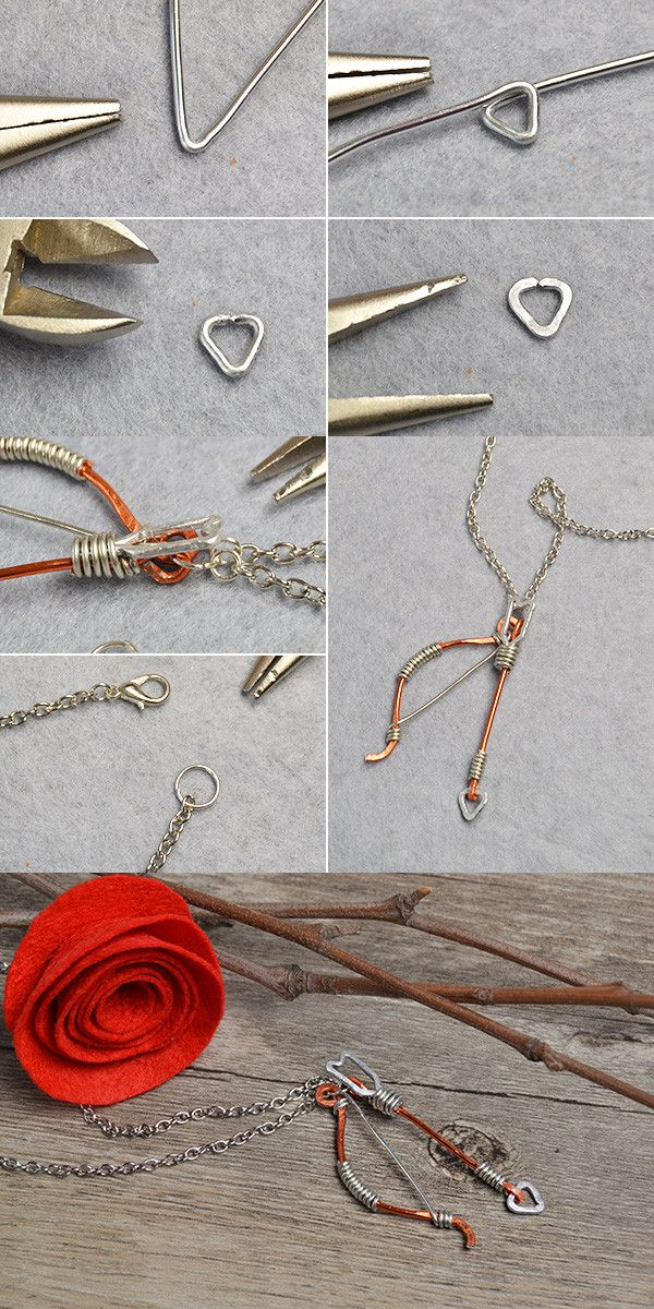 Like the wire wrapped bow and arrow?The tutorial will be published ...