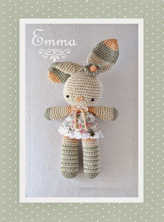 Tuto Conejita Emma en español | conejita emma | Pinterest | Conejo ...